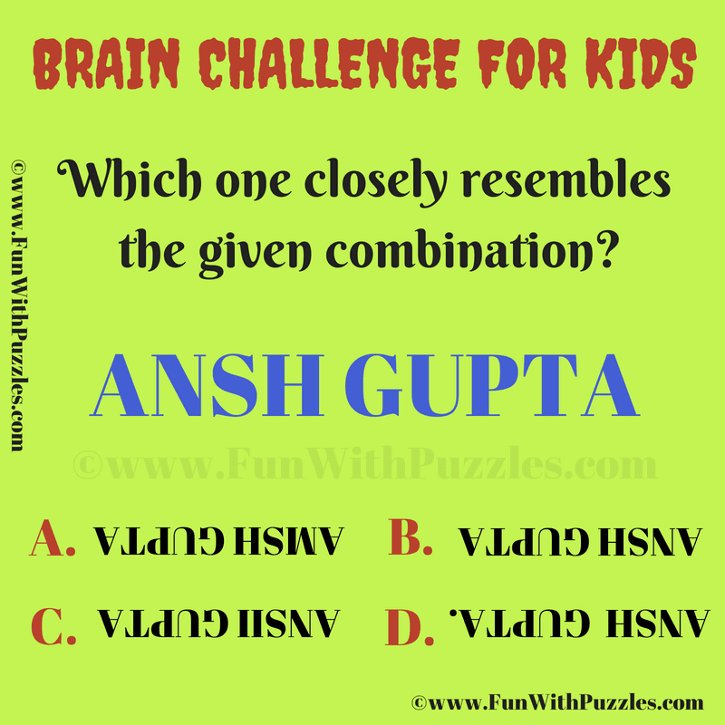 Picture Brain Riddle For Kids With Answer