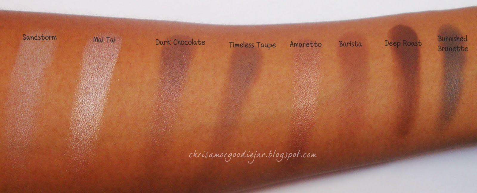 Coastal Scents Neutral Eye shadow swatches