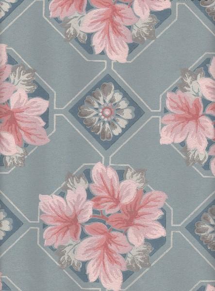 Vieux papier coloré fleuri
