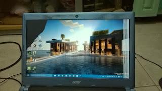 Ide kreatif membuat LCD seperti pecah menggunakan aplikasi paint