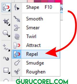 Repel Tool Corel DRAW