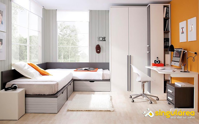 Camas nio tambin podemos diferenciar sus espacios en el for Muebles casal valencia