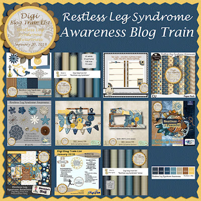 Digi Blog Train List Restless Leg Syndrome Awareness Freebie