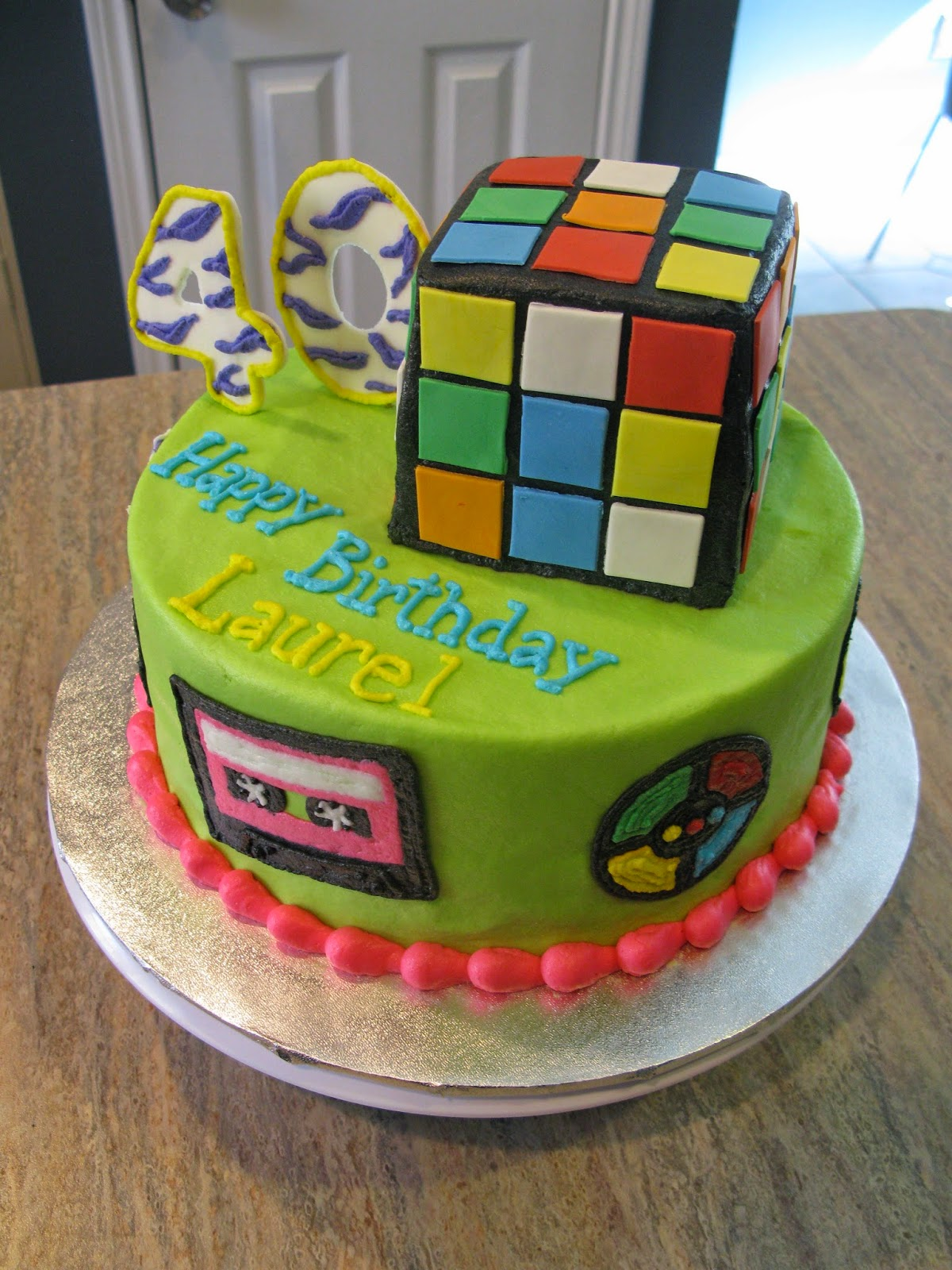 A Counselor S Confections 80 S Themed Birthday Cake
