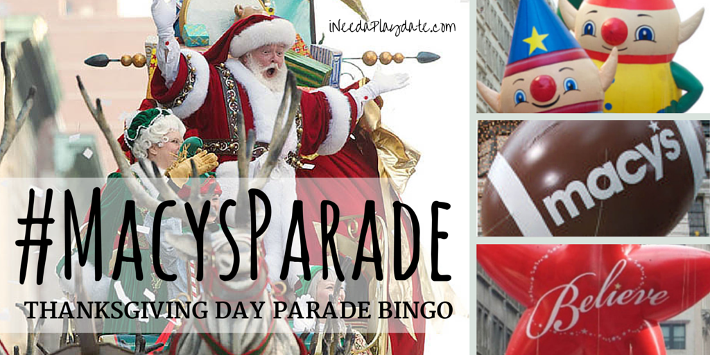Thanksgiving Day Parade Bingo for 2016 {free printable} #MacysParade