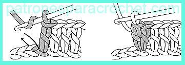 como hacer aumentos en varetas crochet