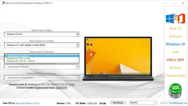 Microsoft ISO Downloader Premium 2020 completo