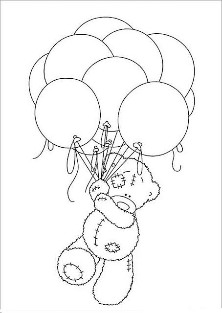 Gambar Mewarnai Balon - 10