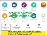 Cara Membeli Voucher Listrik Secara Online di Aplikasi Android