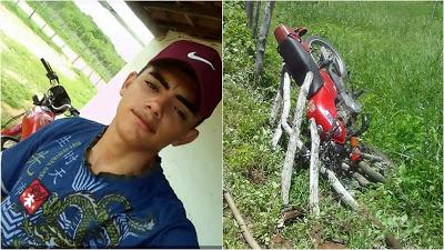Vítima de acidente de moto na zona rural de Santa Quitéria morre em Sobral