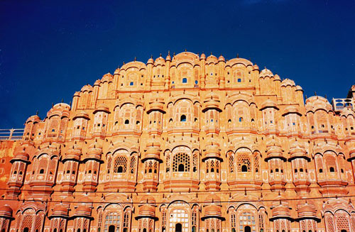 Hawa Mahal, Jaipur, India. Among top tourist attractions of Jaipur, Rajasthan