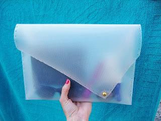 Şeffaf  Dosyadan Çanta Yapımı