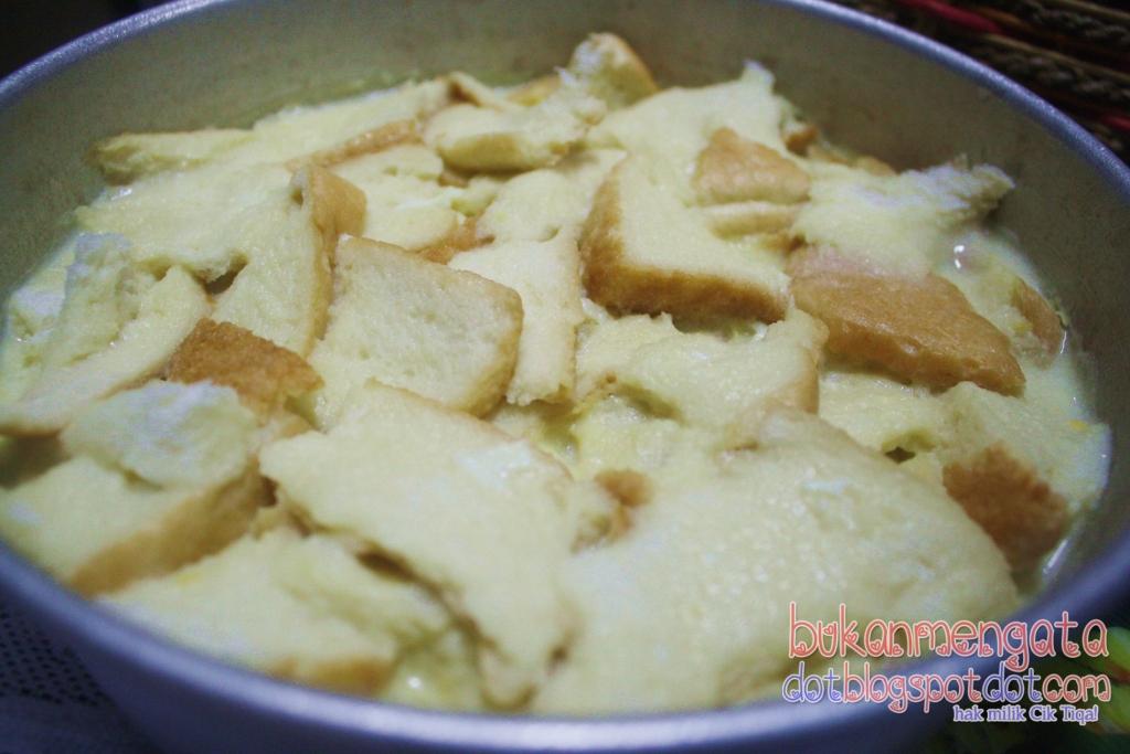 belog cik tiqa resepi puding roti mudah lazat berkrim Resepi Puding Roti Air Fryer Enak dan Mudah