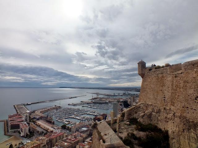 desde el castillo de Alicante