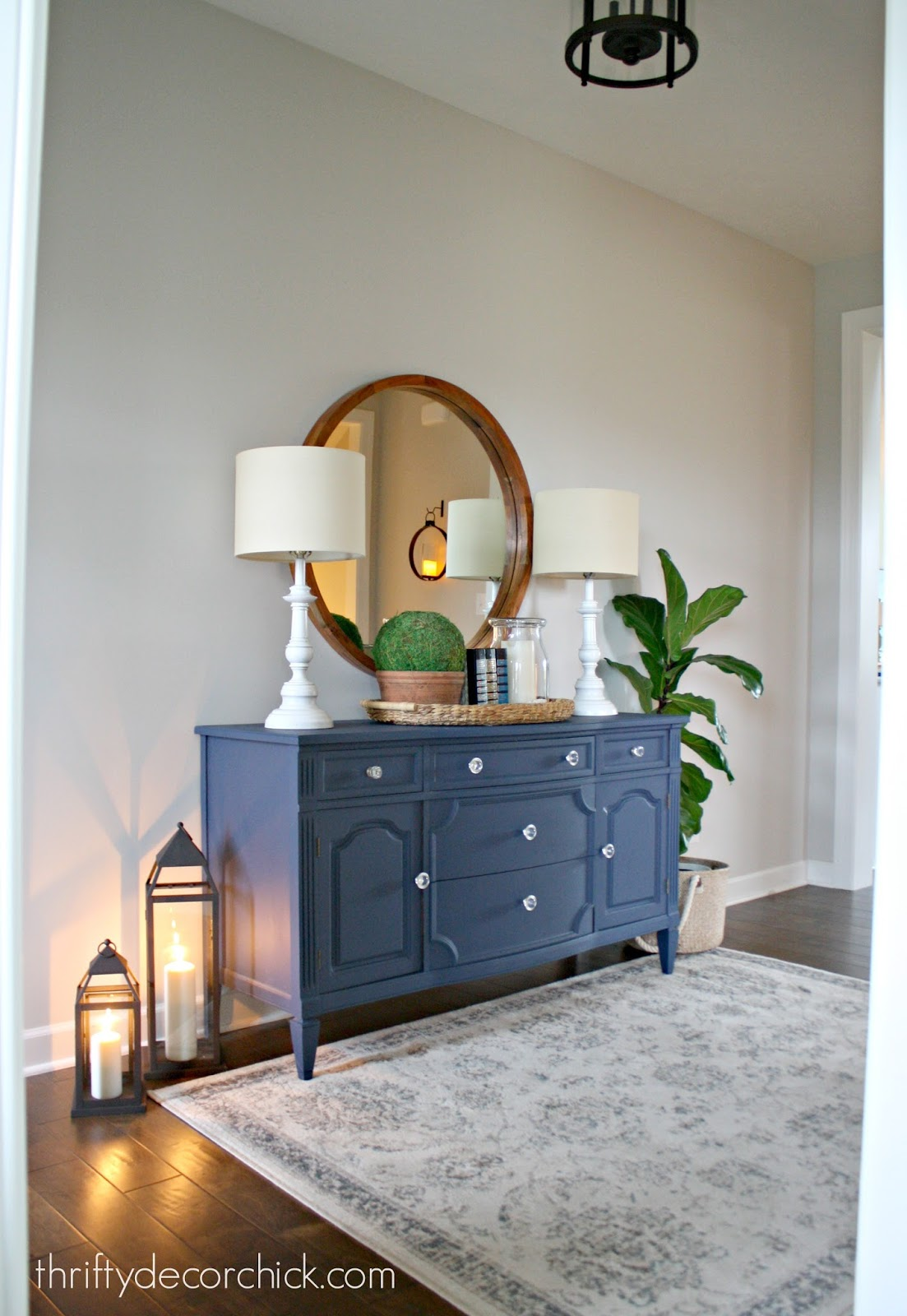 Our Cozy And Welcoming Foyer From Thrifty Decor Chick
