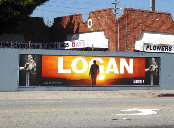 Logan movie street posters