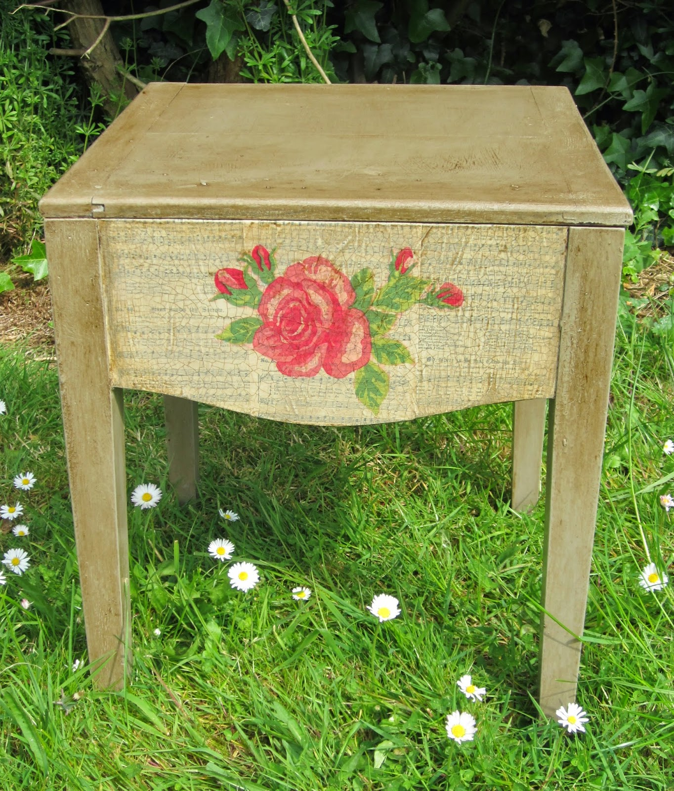Commode Rose Mad Bird Designs Uk Rose Commode Finished