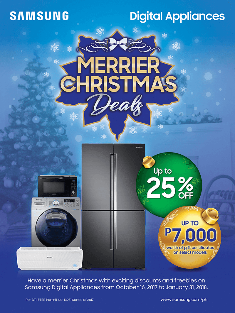 Samsung announces Merrier Christmas Deals, enjoy up to 25% discount on Samsung Digital Appliances