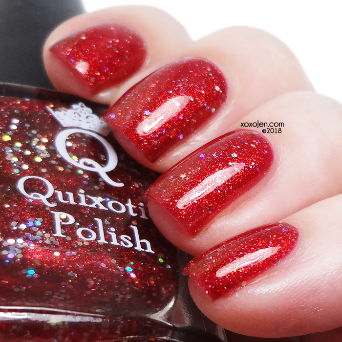 xoxoJen's swatch of Quixotic Polish Red Carpet Insoles