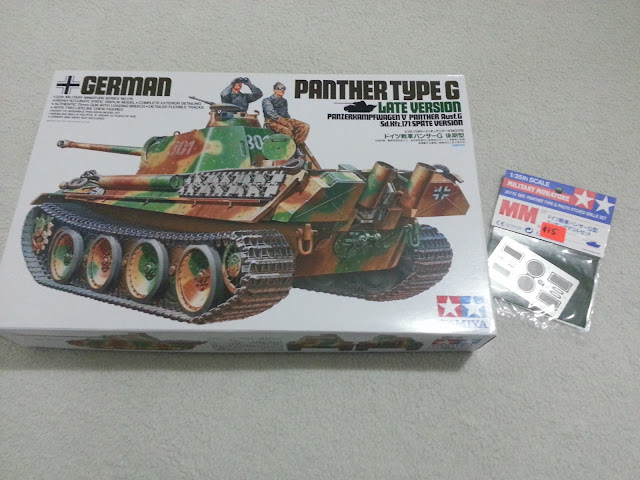 35176 Tamiya 1/35 Panther Type G scale model and photoetch