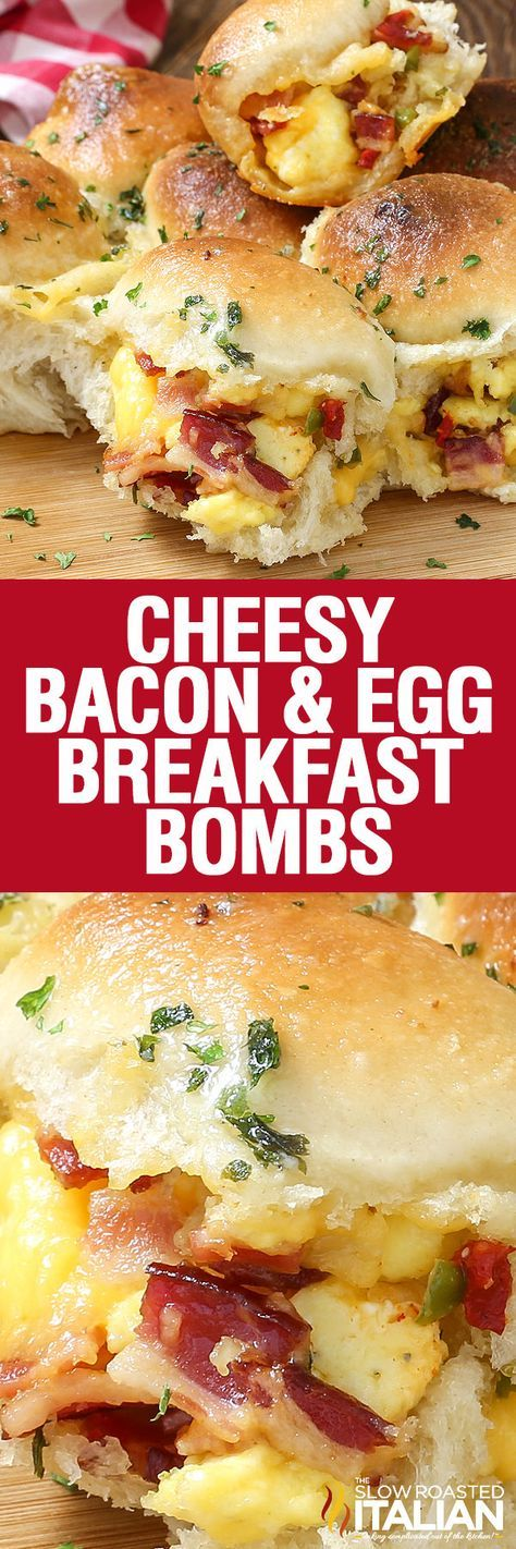 CHEESY BACON AND EGG BREAKFAST BOMBS