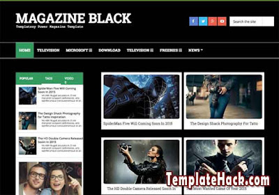 magazine dark blogger template