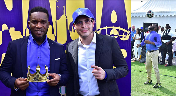 "Nigerian football legend, Austin Jay-Jay Okocha, was officially crowned ""king of the game"" at the launch of BetKing, a premium sports betting platform, in Lagos, today."