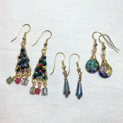 DIY Bead Holiday Earrings - Ornament and Christmas Trees