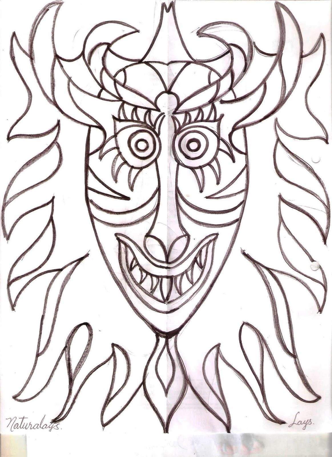 Naturalays Mascara Para Colorear Diablos Danzantes De Yare