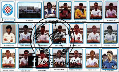 Hajduk Split sličice album Fudbal 91 1990/91