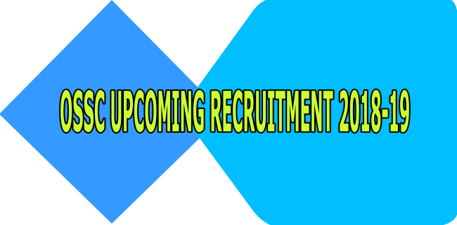 Ossc Recruitment 2018-19