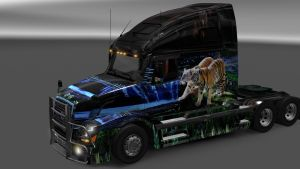 Tigers paint job for Volvo VNL 670