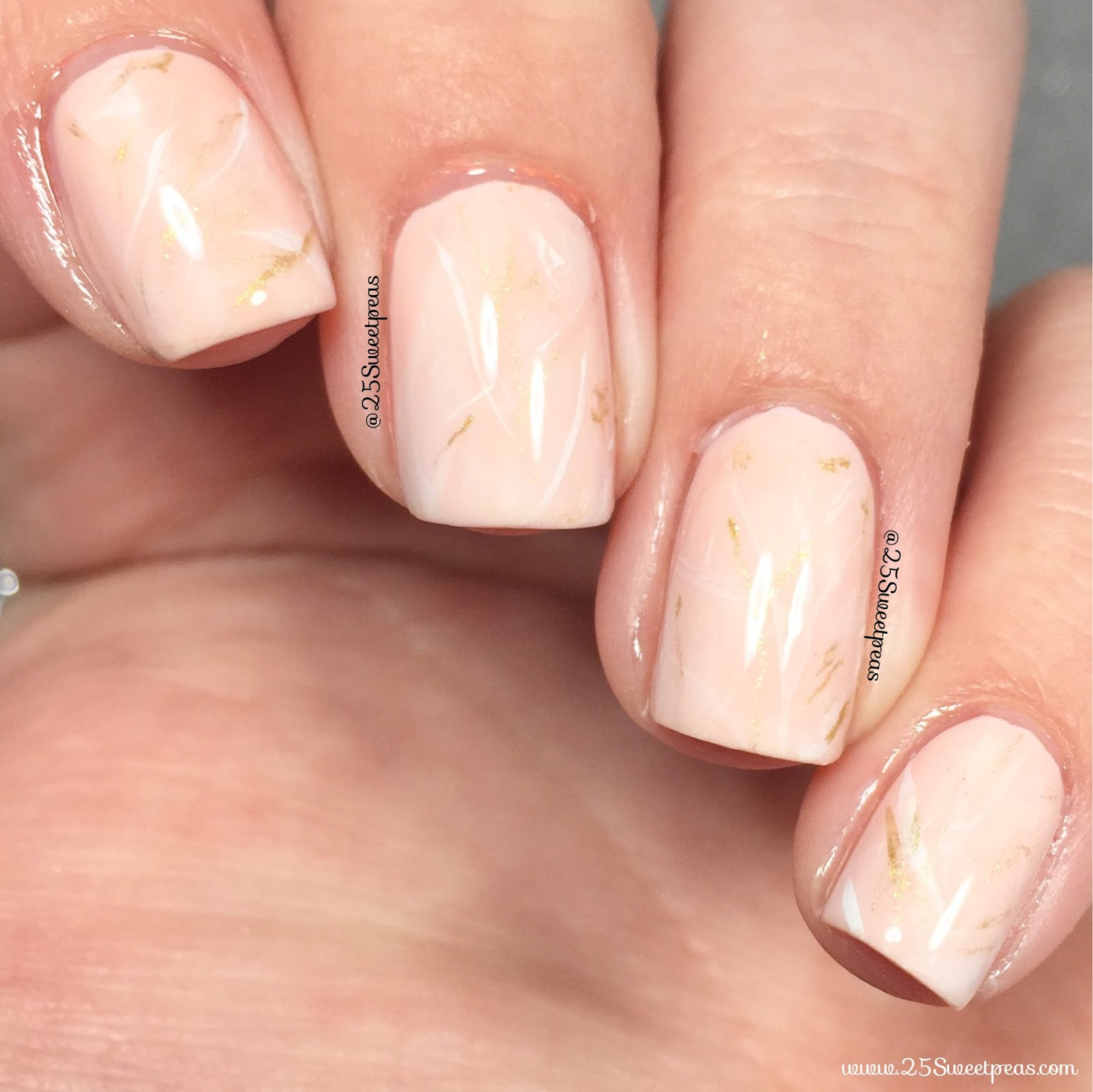 Rose Quartz Nails