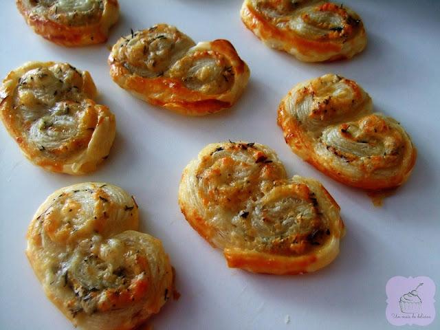 Palmiers au fromage et au thym