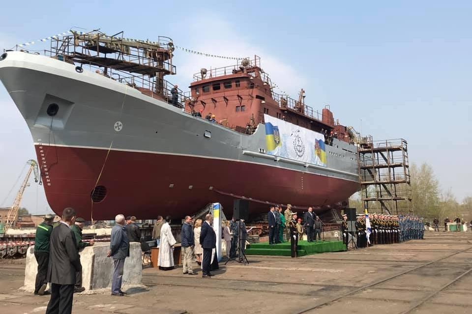 У Києві спускають на воду новий корабель для ВМСУ