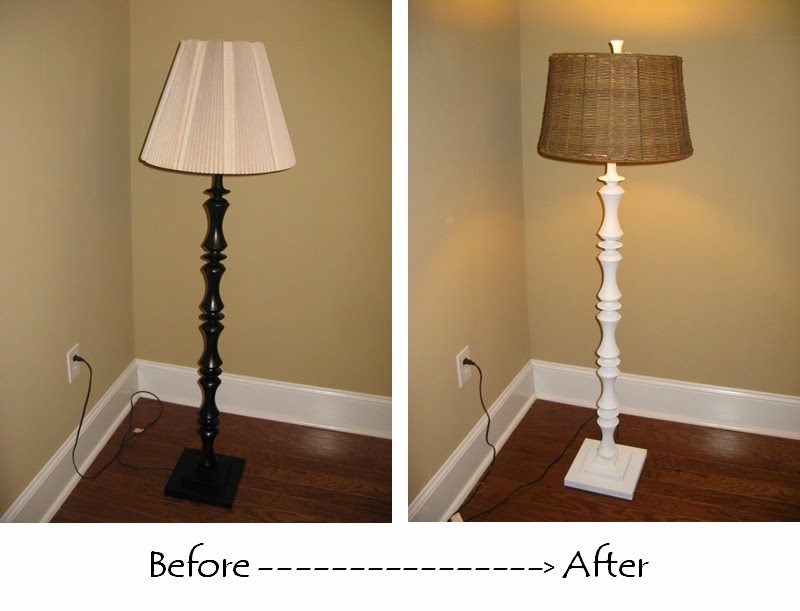 Susan Snyder: FLOOR LAMP UPCYCLE