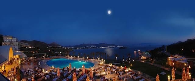 evening, hotel view, elegant, night