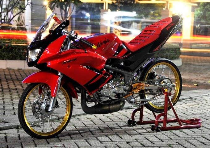 20 Gambar Modifikasi Motor Ninja 150 RR  Kumpulan