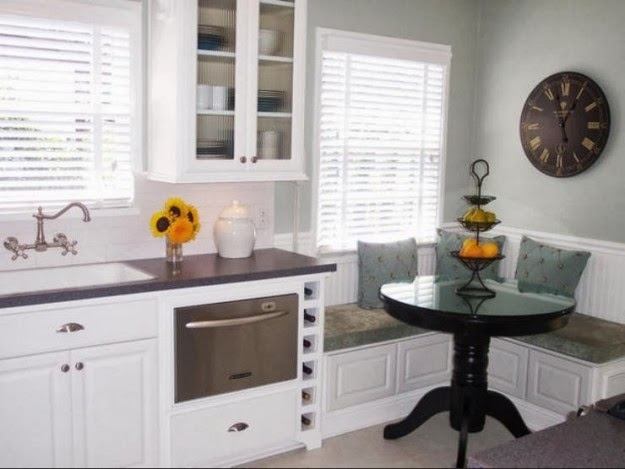 C mo decorar cocinas peque as colores en casa - Aprovechar cocinas pequenas ...