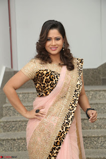 Shilpa Chakravarthy in Lovely Designer Pink Saree with Cat Print Pallu 028.JPG