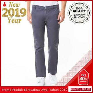 RMY254R33 Raf Celana Chinos Panjang Keren Pria Abu BMGShop