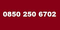 0850 250 6702 Telefon Numarası Kimin