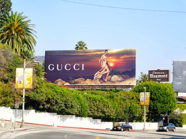 Gucci Cruise 2014 billboard