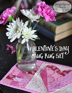 Needles-n-Pins Stitcheries: Heart Mug Rug Sewing Tutorial