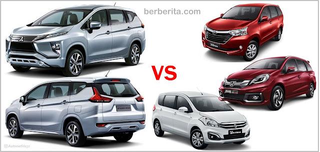 Mitsubishi Expander vs Avanza vs Mobilio vs Ertiga