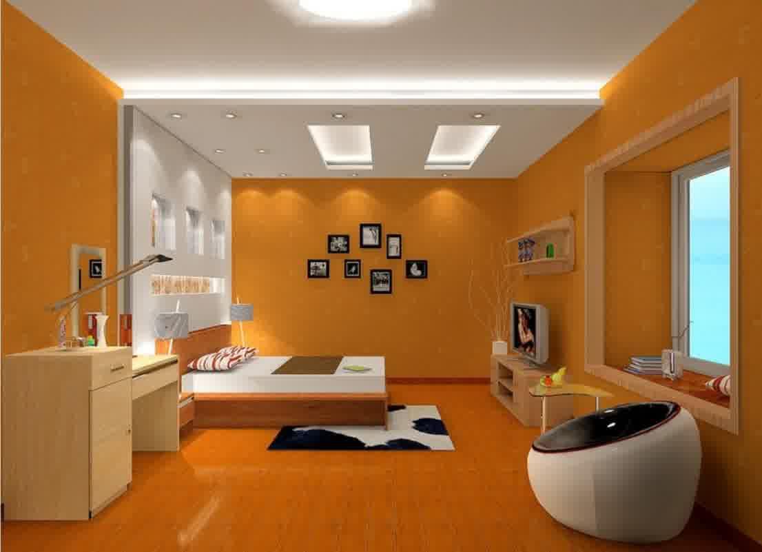 Desain Kamar Tidur Nuansa Orange  Kumpulan Desain Rumah