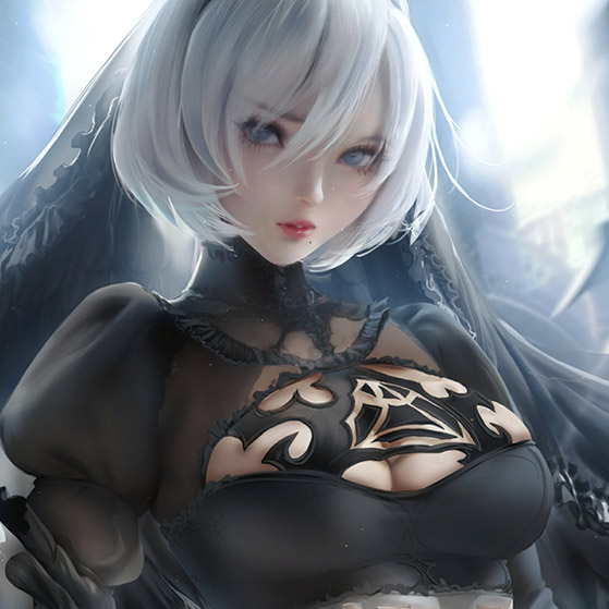 Sakimichan--2b Wallpaper Engine