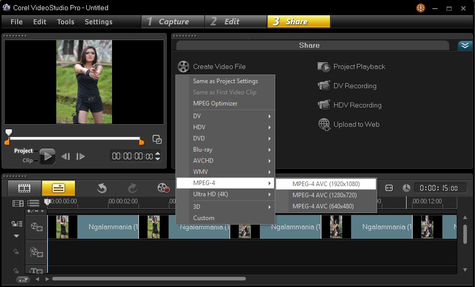 Cara Menyimpan Hasil Project Corel Video Studio 5