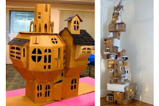 The unusual design of dollhouse
