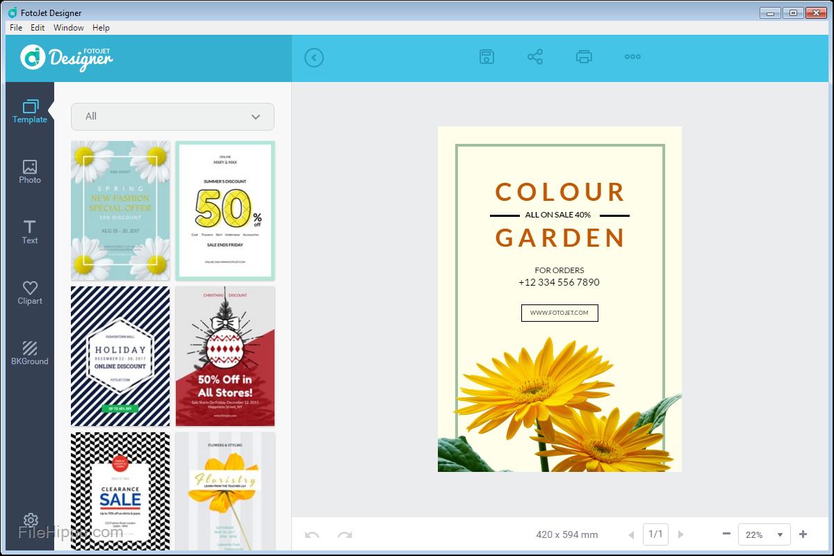 FotoJet Designer Free Download offline installer